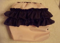 Pink/Brown Ruffled Bottom Diaper Cover