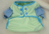 Blue/Green Ruffle Bottom Diaper Cover