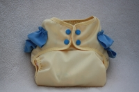 Yellow and Blue Diaper Cover