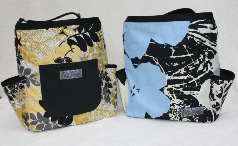 """Essentials"" canvas diaper bag, 6 inner pockets, divider, 2 outer pockets"